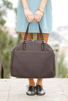Is This The Ultimate Bag For Work AND Weekends? We Think So! #refinery29 http://www.refinery29.com/lo-and-sons-bags-for-work#slide3 The O.M.G. Overnight & Medium Gym Bag, $178.75, available at Lo & Sons. Photo: Courtesy of Lo & Sons