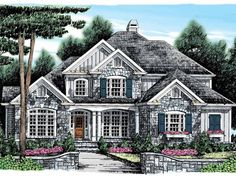 Eplans French Country House Plan - European Country - 2885 Square Feet and 5 Bedrooms from Eplans - House Plan Code HWEPL09828