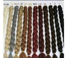 Xpression Colour Chart Hair Styzzles In 2019