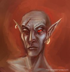 Saint Jiub, the very first voice you hear and the very first face you see in Morrowind. My heart broke when I saw him in the Soul Cairn in Skyrim. This badass Dunmer doesn't deserve to be in a place like that. Elder Scrolls Morrowind, Dark Elf, World Of Warcraft, Skyrim, Fire Emblem, Art Google, Elves, Art Sketches, Character Art