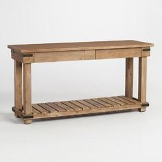 One of my favorite discoveries at WorldMarket.com: Distressed Wood Cameron Console Table