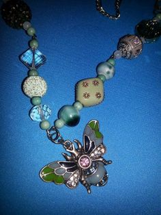 Stone Butterfly by MADDjewels on Etsy, $30.00