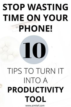 Wondering how to easily turn your phone into a fantastic productivity tool and stop letting it making you waste your precious time? Check this quick guide out! Effective Time Management, Time Management Tips, Life Motivation, Finding Motivation, Daily Routine For Women, How To Be More Organized, Stop Wasting Time, Healthy Morning Routine, How To Become