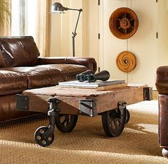 Industrial coffee table   needs a lot of space but great looking pc