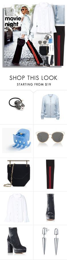 """Untitled #427"" by craftsperson ❤ liked on Polyvore featuring Alice + Olivia, J.Crew, Christian Dior, M2Malletier, Alexander McQueen, Caroline Constas, Gianvito Rossi, Bling Jewelry and movieNight"
