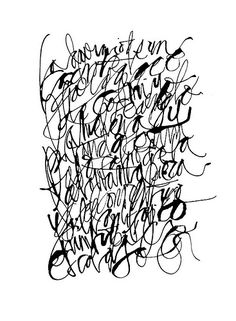 Asemic calligraphy : Silvia Cordero Vega - MALA LETRA  project is based on slang tango and poetry from Buenos Aires.