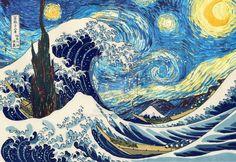 The Great Starry Wave Of Kanagawa by csquaredisrippn.deviantart.com on @deviantART