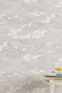 Cloud Formation Wallpaper | Anthropologie Unique Wallpaper, Textured Wallpaper, Of Wallpaper, Interior Wallpaper, Wallpaper Ideas, Iphone Wallpaper, Modern Color Palette, Modern Colors, Bathroom Wallpaper