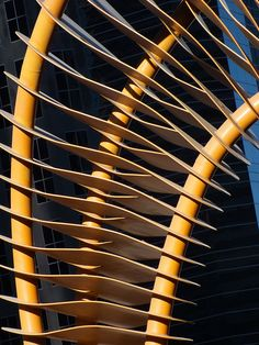 Weaving fence & Horn at the Trans Canada Pipeline Building by benlarhome Classic Architecture, Contemporary Architecture, Architecture Details, Interior Architecture, Materials And Structures, Abstract City, Ancient Buildings, Constructivism, Geometric Lines