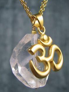 Yoga Jewelry Om Charm Necklace Chakra Jewelry by YogaJewelryShop- one of my XMAS gifts :-)