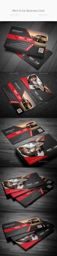 Rent A Car Business Card Template #design Download: http://graphicriver.net/item/rent-a-car-business-card/10069504?ref=ksioks