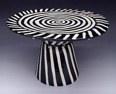Ceramic cake plate