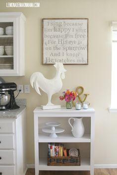 Lemonade Makin' Mama: Cute neutral, peaceful home decor with hint of whimsy & farmhouse ;) love!!