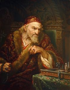 Painting by Andrey Shishkin of Ivan IV playing chess Fantasy Rpg, Medieval Fantasy, Illustration Example, Illustration Art, Pictures Of Russia, Russian Art, Gothic Art, Religious Art, Fine Art Gallery