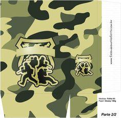 2 of 2--- http://fazendoanossafesta.com.br/2015/07/kit-militar-camuflado-para-festa-infantil.html/