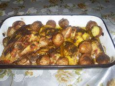 Retete cu margareta cismasiu: Friptura de pui cu cartofi noi Carne, Meat, Chicken, Food, Essen, Meals, Yemek, Eten, Cubs