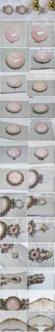 Pt sah bermuda blue Beautiful beaded bracelet tutorial / Мастер-класс: нежный браслет вышитый бисером