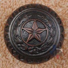 Western Decor Knob Texas Star Hardware Cabinet Knobs Drawer Pulls CP214ORB #WESTERN