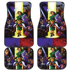 The Legend Of Zelda Front And Back Car Mats 34 Car Mats, Car Floor Mats, Mat Best, Seat Covers, Legend Of Zelda, Flooring, Prints, Daily Wear, Gift