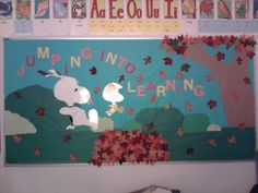 snoopy bulletin board ideas | into our October bulletin board. My resource teacher LOVES Snoopy ...