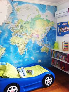 adesivo de parede mapa mundi para quarto Toddler Bed, Furniture, Home Decor, Worldmap, Wall Tile Adhesive, Stickers, Environment, Colors, Ideas