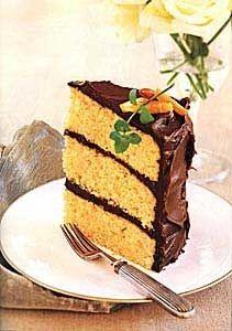 Orange-Almond Cake with Chocolate Icing / Ellen Silverman