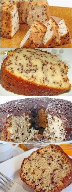Easy Smoothie Recipes, Easy Smoothies, Food Cakes, Cake Recipes, Snack Recipes, Cooking Recipes, Cake Blender, Pumpkin Spice Cupcakes, Portuguese Recipes