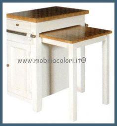 Mobile Isola Cucina con tavolo estraibile CD245 AL | HOME ...