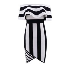 Even when your life is full of color, you still need to be reminded that things come in black and white. Our Panda bandage dress pairs these two colors perfectly while mixing it up with a few stripes in between. Panda, Stripes, Black And White, Sexy, Color, Dresses, Products, Black White, Vestidos