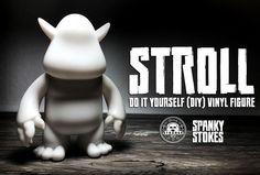 Stroll DIY vinyl figure from SpankyStokes & Strangecat Toys - Pure   White  … #DoItYourselfDIY #SpankyStokes #StrangecatToys #Stroll #Video