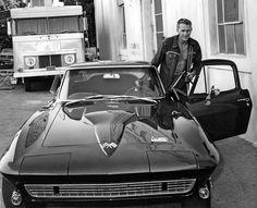Steve McQueen and Corvette Stingray