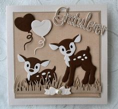 Baby Cards, Kids Cards, Marianne Design Cards, Elizabeth Craft Designs, Craft Punches, Cricut Cards, Animal Cards, Punch Art, Paper Cards