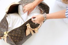Today on For All Things Lovely: How To: Care for Designer Items Louis Vuitton duffel bag