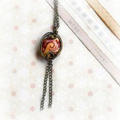 Ciondolo Wire Bonnie  Filo di rame in colorazione di archidee