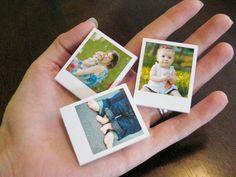 Super Cute! 10 Miniature Custom Polaroid Photo Magnets For Your Fridge by KellyONeillArt via Etsy, $29.50