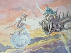 """Nausicaä of the Valley of the Wind 風の谷のナウシカ"" by 宮崎 駿 Hayao Miyazaki* | © Studio…"