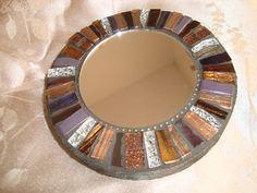 MOSAIC MIRROR Accent Mirror Small Round by victoriacharlotte