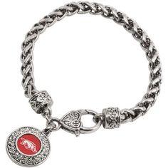 Arkansas Razorbacks Ladies Heart Clasp Bracelet