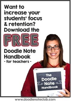 Free Doodle Note Handbook - Why, How, and Making Your Own! - by Math Giraffe