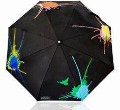 color changing umbrella ~ rain water splats various colors as it hits umbrella. LOVE!