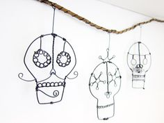 Day Of The Dead Skulls Wire Wall Hanging by LifeOnWire on Etsy, $48.00