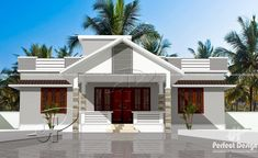 Looking for a dream house? This enchanting three bedroom modern house with roof deck has what it takes to be one. It projects class and elegance. Single Floor House Design, Modern House Design, Flat Roof Repair, Bungalow Haus Design, House Construction Plan, Roofing Options, Roofing Materials, Kerala House Design, Fibreglass Roof