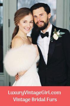 Make your fairytale wedding a reality with a dream Winter Wedding Fur, Winter Wonderland Wedding, Winter Weddings, Vintage Fur, Vintage Bridal, Winter Wedding Inspiration, Wedding Ideas, Fur Stole, Dream Wedding