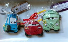 McQueen, Guido & Fillmore....Cars cookies!
