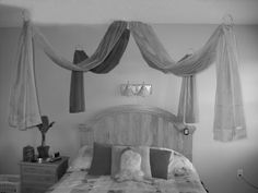 DIY Canopy Bed! Cheap and easy way to make your ordinary bed into extraordinary CANOPY bed!
