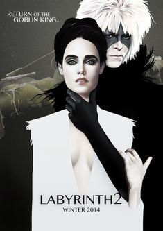 Movie poster for an imaginary  sequel to Labyrinth (designed by Ruben Ireland)