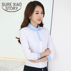 We love it and we know you also love it as well 2017 New Formal Blouse Female Long Sleeved Shirt Occupation Slim Business Suits Overalls White Thin Shirt Bottoming tops 893J 30 just only $11.03 with free shipping worldwide  #womanblousesshirts Plese click on picture to see our special price for you