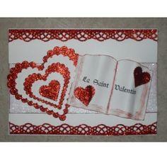 Réalisez une carte avec un coeur en relief pour la St Valentin : Marylene M