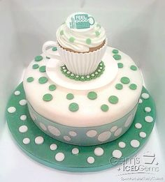 Macmillan Large Cake and Teacup Cupcakes, Cake Cookies, Macmillan Coffee Morning Cakes, Cake Shapes, Cake Day, Novelty Cakes, Occasion Cakes, Different Recipes, Celebration Cakes