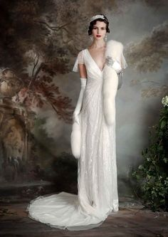 Gatsby Vintage Inspired Eliza Jane Howell Thelma  Wedding Dress  :  Debutante Collection | itakeyou.co.uk